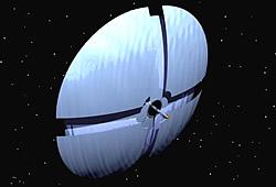 Solarsegel-Raumschiff Grafik