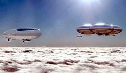 Venus-Luftschiffe Grafik